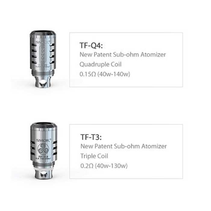 smok tfv4 5 pack replacement coils triple or quad