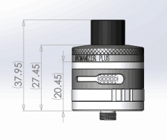 Steam Crave Aromamizer Plus RDTA 30 MM (10ml & 5ml & 20ml Bundle Kit)
