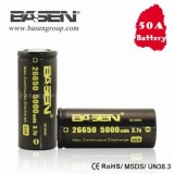Basen 5000 mah 50/60 amp High Drain 26650 Rechargeable Battery
