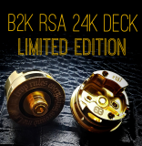 BB Vapes Brand B2K RSA Limited Edition 24k Gold Deck